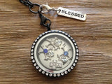 Silver Blessed Pendant Tag