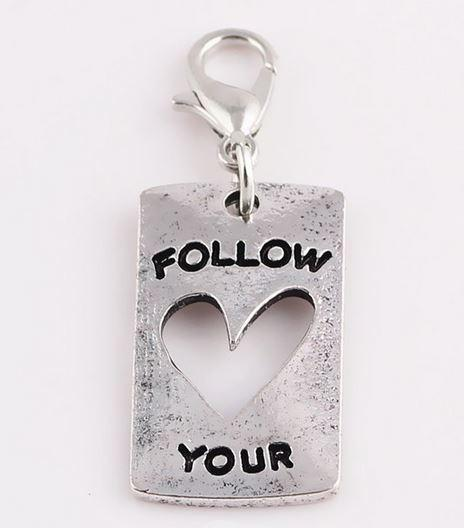 Silver Follow Your Heart Cutout Tag