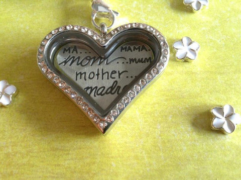 Silver Heart Mother Mama