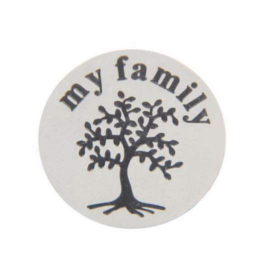 Silver Round My Family Tree