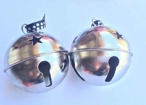 "Silver Jingle Bells  3.3""  (2)"