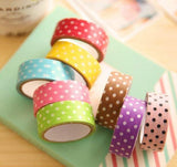 Small Polka Dots Pink Black