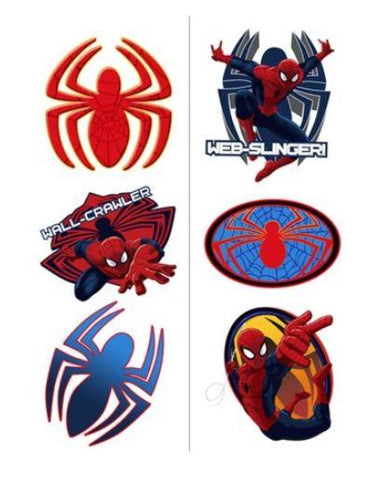 Spiderman Party Tattoos - 2 Sheets
