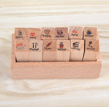 Stamptopia in Wooden Box, Birthday