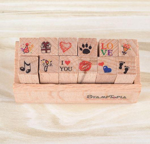 Stamptopia in Wooden Box, Love
