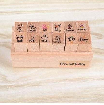Stamptopia in Wooden Box, Travel