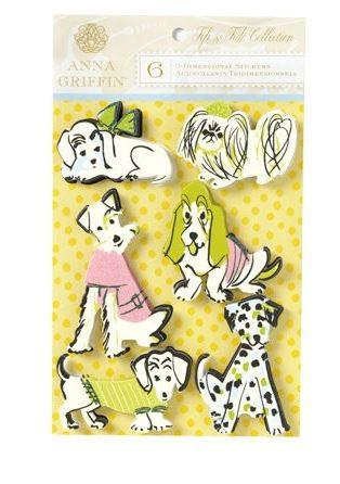 Anna Griffin Fifi & Fido Collection 3D Stickers