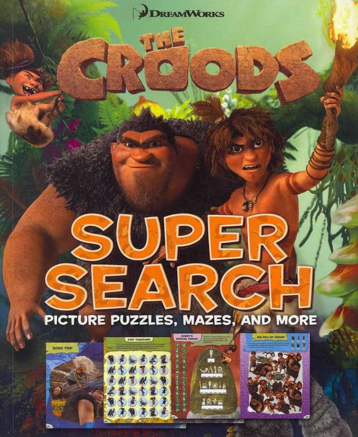 The Croods Super Search Picture Puzzles Mazes and More - DreamWorks