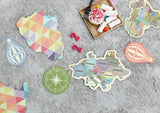 Antique Colorful Continent World Travel Garland