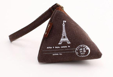 Triangular Travel Eiffel Tower, Khaki