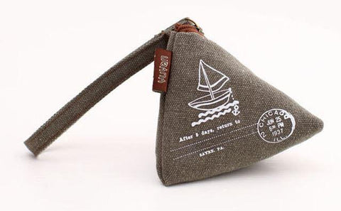 Triangular Travel Sailboat, Olive