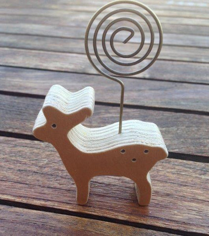 Wooden Deer  Placecard Holder
