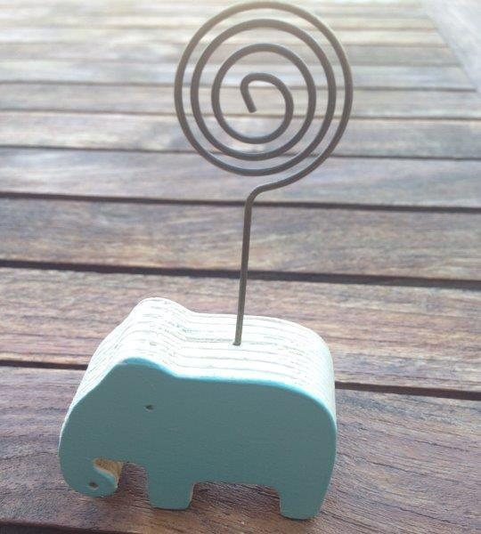 Wooden Elephant Placecard Holder