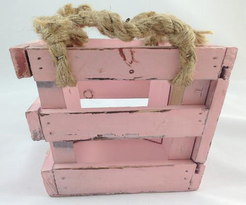 Wooden Planter Boxes - Chalkboard Front Pink