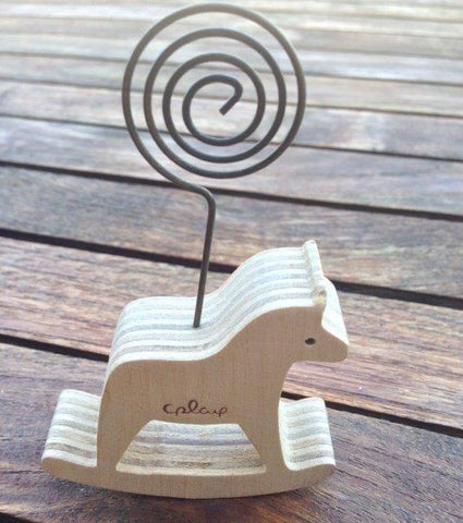 Wooden Rocking Horse Placecard Holder