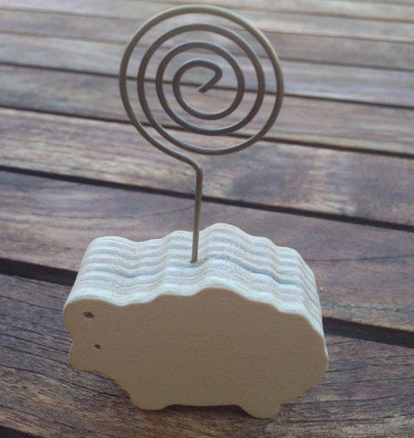 Wooden Sheep Placecard Holder