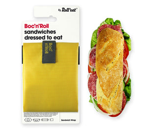Roll'Eat Boc'n' Roll square -yellow