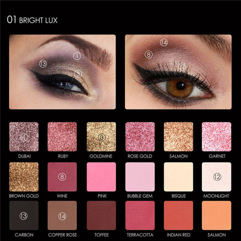 FOCALLURE  18 Eye Shadow Palette ( Bright Lux)