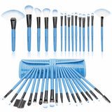 32 pcs Professional Beauty Makeup Brush Kit (Blue)