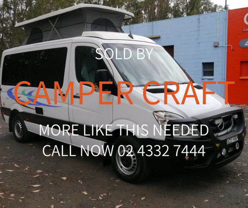 SOLD - 2009 Mercedes Benz Sprinter Pop-Top Campervan