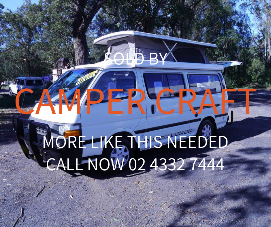 SOLD - 1996 Toyota Hiace Discoverer Campervan