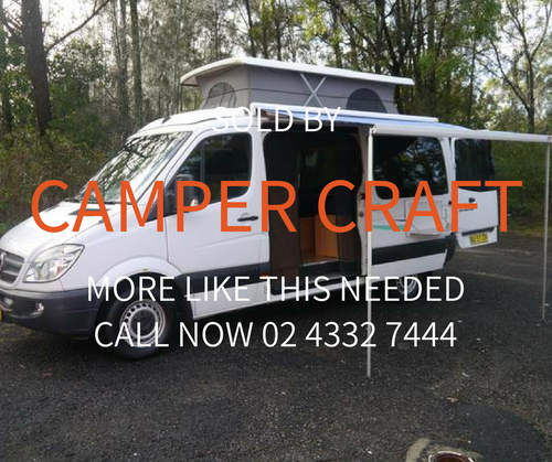 SOLD - 2011 Mercedes Benz Sprinter Pop-Top Campervan