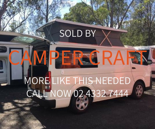SOLD - 2012 Toyota Hiace Campervan