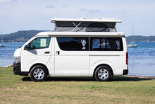 SOLD - 2017 Toyota Hiace Campervan - Rock N Roll Bedseat Floorplan