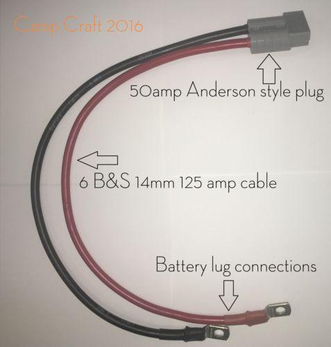 anderson style plug to battery lug