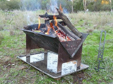 slot me in the wedge 600 fire pit & camp cooker 1
