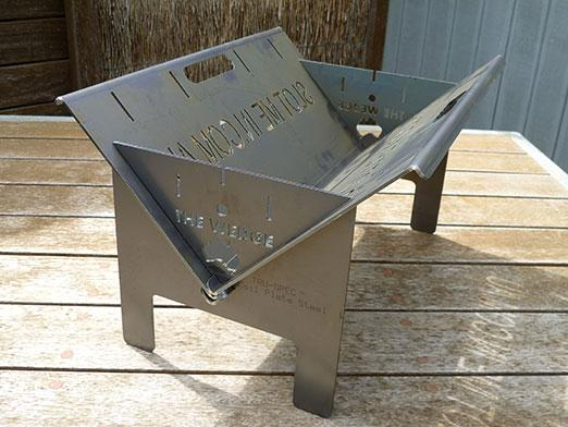 slot me in the wedge 600 fire pit & camp cooker