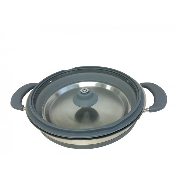 supex collapsible saucepan grey