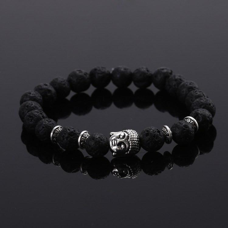 Charming Buddha Bracelet with Natural Stone Beads