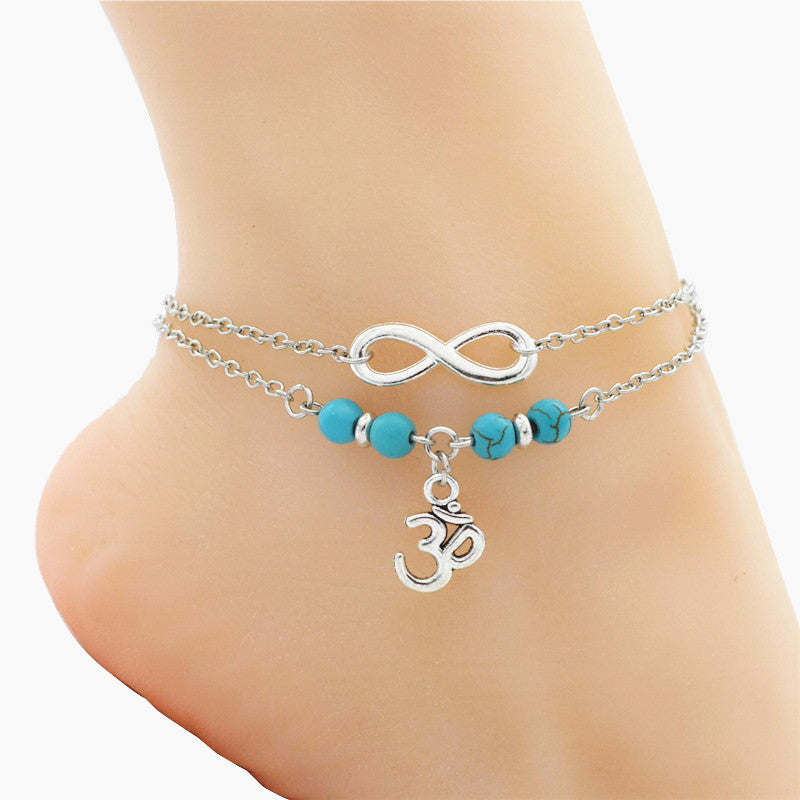 bracelet spring infinity chain anklet products gold