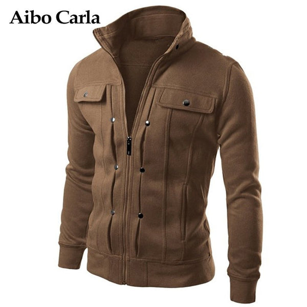 Slim Fit Cotton Blend Men's Jacket