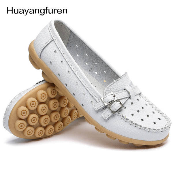 Genuine Leather Moccasins Flat Shoes
