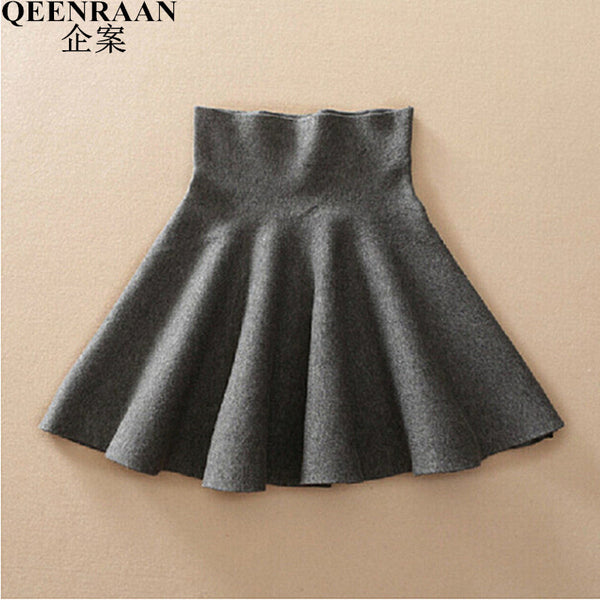 Autumn High Waist Knitted Skirts