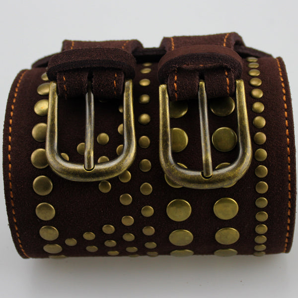Double Buckles Leather Belt