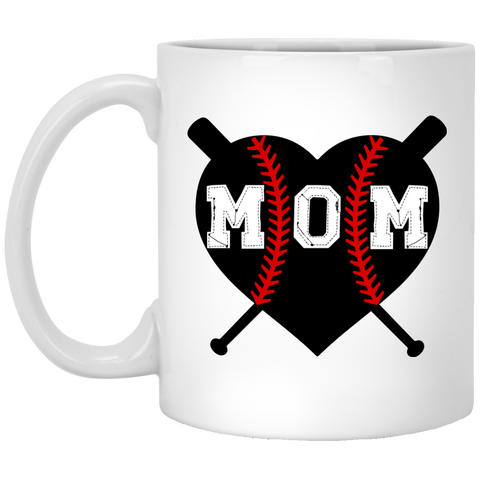 Baseball Heart Mom Deep Heather Shirt Only Mug