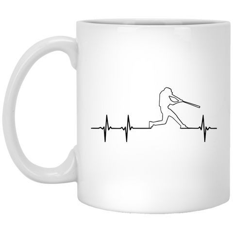 Baseball Heartbeat Mug