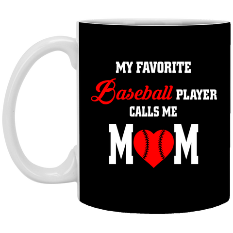 Baseball Mom - Favorite Player - Enter Number Mug
