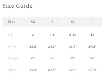 Band of Gypsies Size Guide