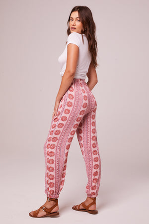 Alice Rose Medallion Jogger Pants Back