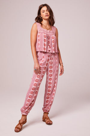 Alice Rose Medallion Jogger Pants Front