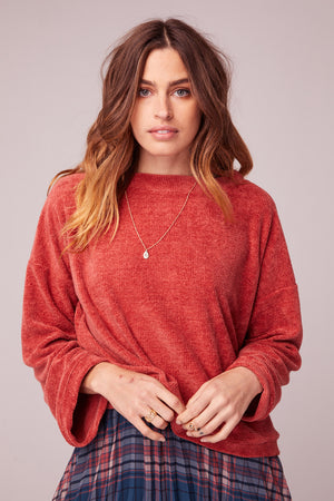 All My Love Coral Crew Neck Sweater master