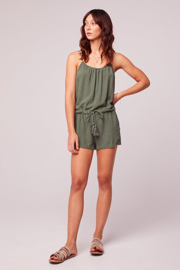 All Play Olive Woven Cami Romper master2