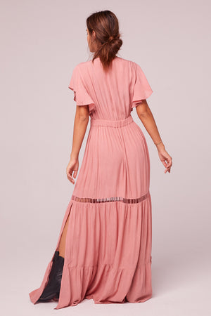 All You Need Is Love Mauve Maxi Dress Back