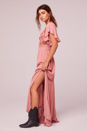 All You Need Is Love Mauve Maxi Dress Side 2