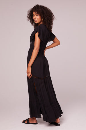 All You Need Is Love Black Maxi Dress Back