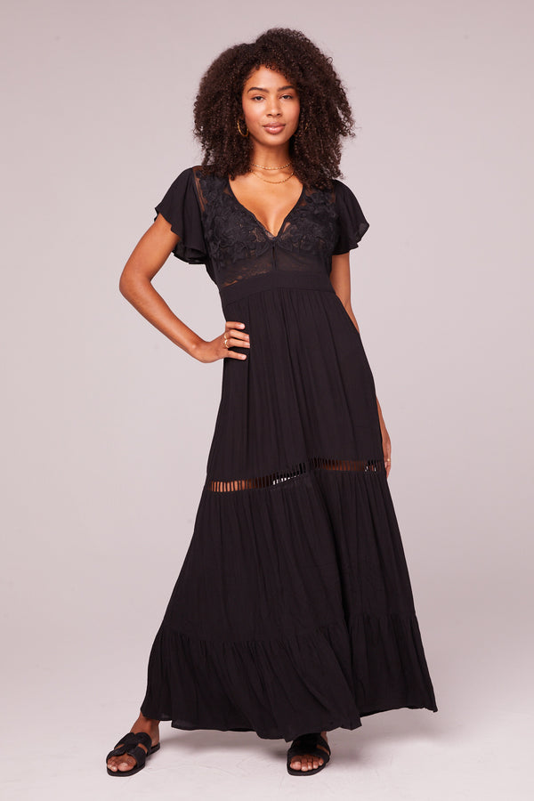 All You Need Is Love Black Maxi Dress Master